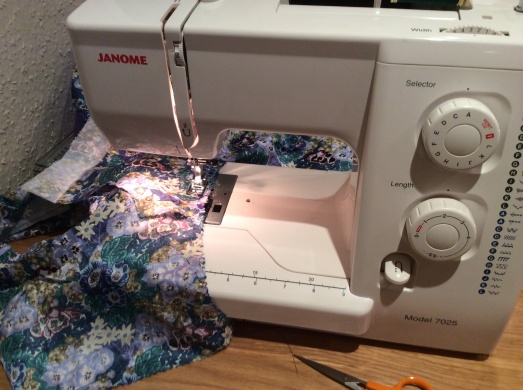 My yoke top WIP - if Rachel can take her sewing machine to Brazil I can certainly manage to take mine to the Peaks