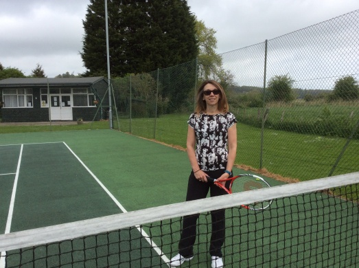 At the tennis club