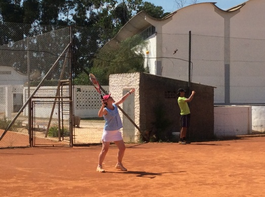 """Playing in the tournament in my """"tennis"""" Sorbetto"""
