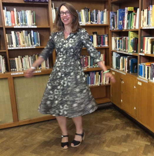 A silly picture of me twirling - it seems to be the rage in blogs at the moment