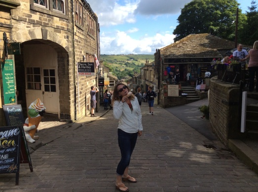 Being touristy in Haworth - there is a Sorbetto hidden under the Rohan