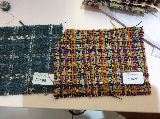 samples from Linton tweeds - potential Francines