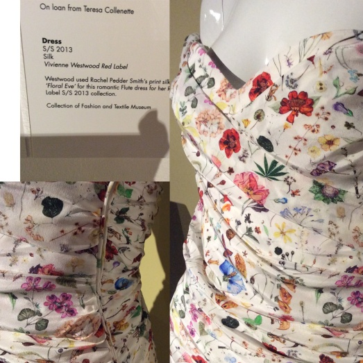 Dress by Vivienne Westwood: Fabric designed by Rachel Pedder-Smith