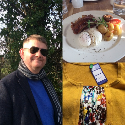 Brunch at The Parsons Table, Arundel with George Clooney and, keeping it real with my charity shop bargain