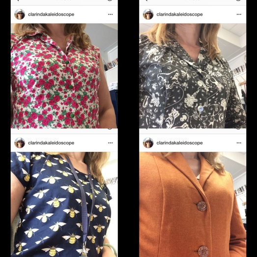 The boob selfie from a gal who clearly likes prints and buttons
