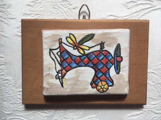 Ceramic mounted on wood